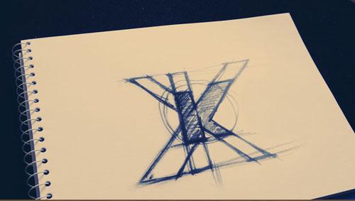 kolboid logo – második vázlat