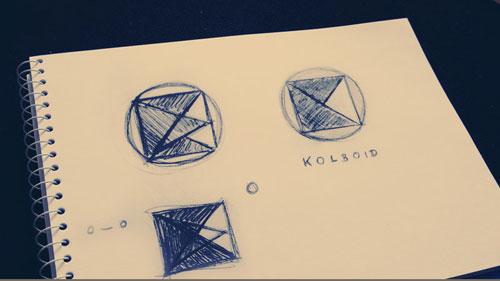 kolboid logo – utolsó vázlat