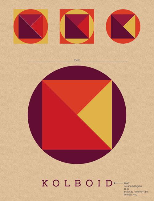 kolboid logo – színek