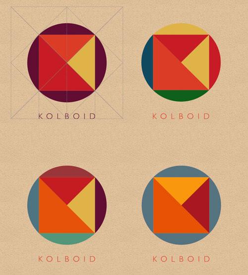 kolboid logo – színvariációk