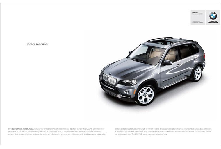 BMW hirdetés – A white space eleganciát kölcsönöz