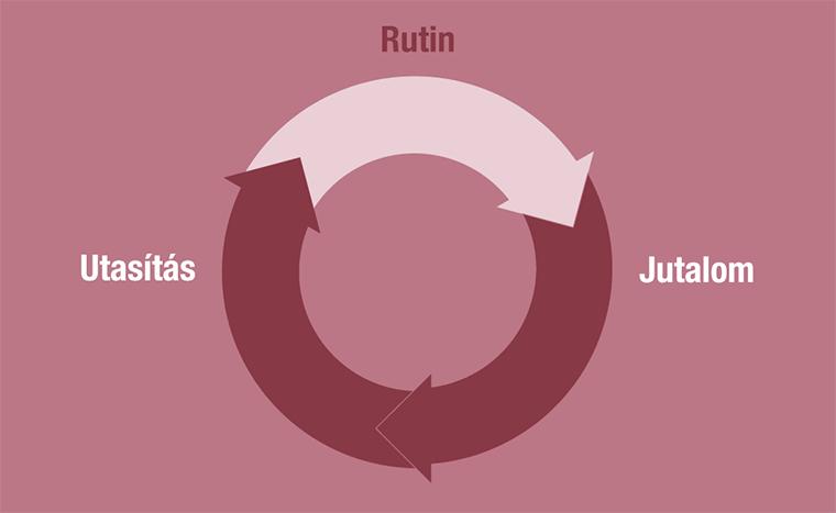 Szokás ciklus: utasítás – rutin – jutalom
