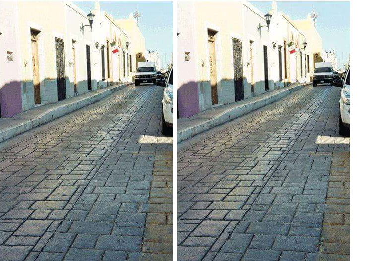 tilted road illusion